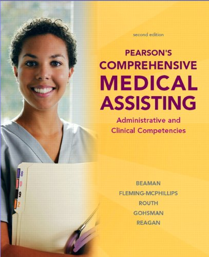 9780135008836: Pearson's Comprehensive Medical Assisting