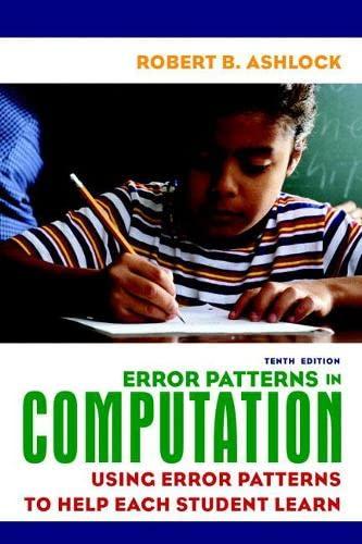 9780135009109: Error Patterns in Computation: Using Error Patterns to Help Each Student Learn