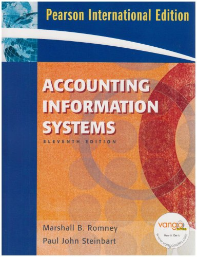 9780135009376: Accounting Information Systems: International Edition