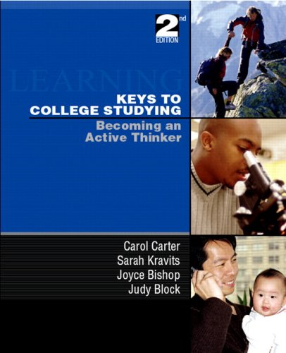 9780135009406: Keys to College Studying: Becoming an Active Thinker & Prentice Hall Guide to Research Navigation Pkg (2nd Edition)