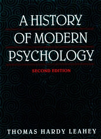 9780135012710: A History of Modern Psychology