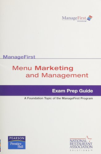 9780135018989: Test Prep ManageFirst Menu Marketing Management