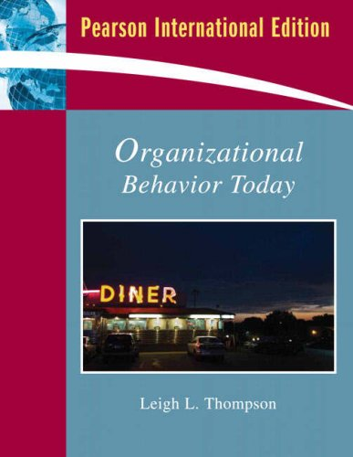 9780135022573: Organizational Behavior Today