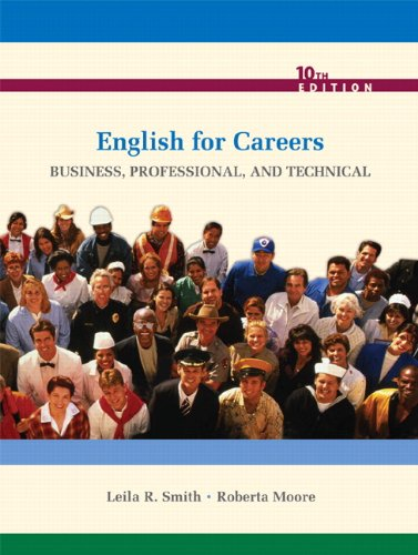 9780135023310: English for Careers: Business, Professional, and Technical (10th Edition)