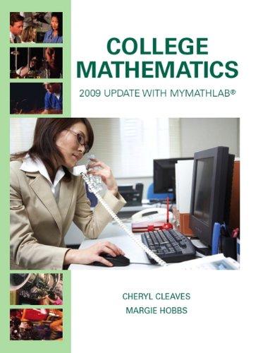 9780135024331: College Mathematics: 2009 Update