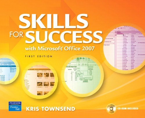 9780135024560: Skills for Success Using Microsoft Office 2007