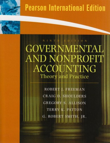 9780135031667: Governmental and Nonprofit Accounting: International Version: Theory and Practice