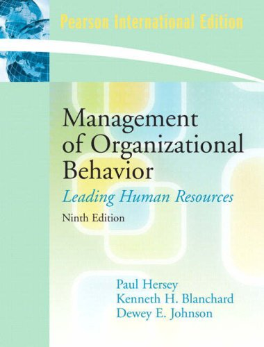 9780135032756: Management of Organizational Behavior (9th Edition)