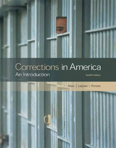 9780135034392: Corrections in America: An Introduction (12th Edition)