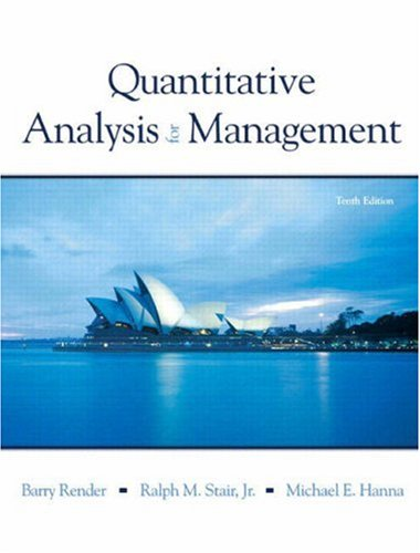 Quantitive Analysis for Management and Student CD Package (10th Edition) (0135035082) by Render, Barry