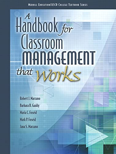 A Handbook for Classroom Management that Works: ASCD, The, Marzano,