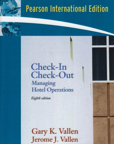9780135036303: Check-in; Check Out: Managing Hotel Operations