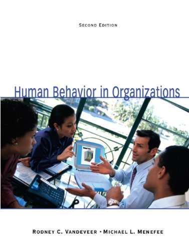 9780135038116: Human Behavior in Organizations (2nd Edition)