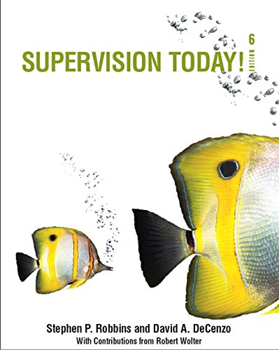 Supervision Today!: Robbins, Stephen P.;