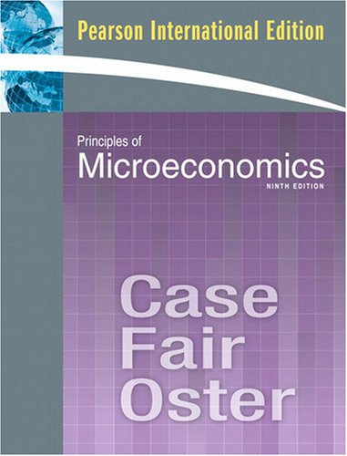 9780135040799: Principles of Microeconomics (9th, 09) by Case, Karl E - Fair, Ray C - Oster, Sharon C [Paperback (2009)]