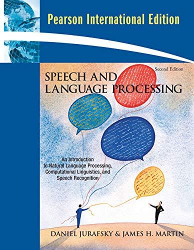 9780135041963: Speech and Language Processing: International Edition