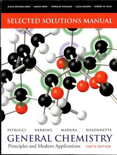 9780135042922: Selected Solutions Manual -- General Chemistry: Principles and Modern Applications