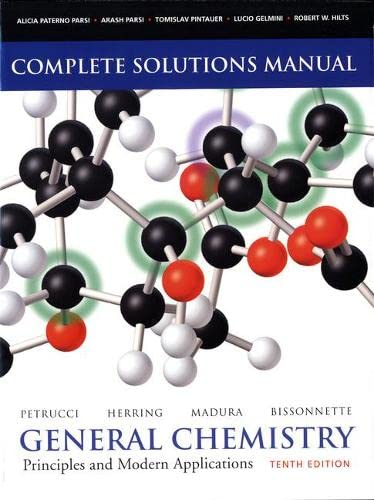 9780135042939: Solutions Manual for General Chemistry: Principles and Modern Applications
