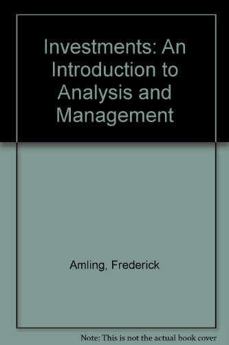 9780135043080: Investments: An Introduction to Analysis and Management