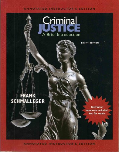 9780135043141: Criminal Justice: A Brief Introduction (Annotated Instructor's Edition)