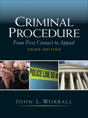 9780135043196: Criminal Procedure: From First Contact to Appeal (3rd Edition)