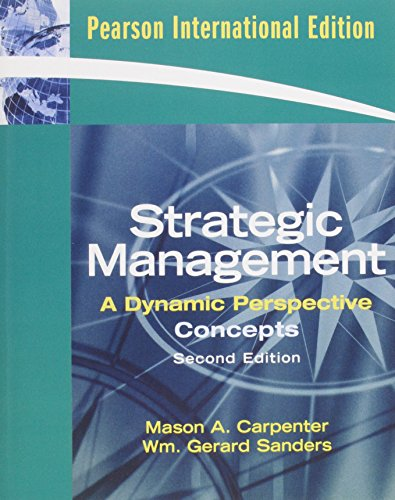 9780135044438: Strategic Management (2nd, 09) by Carpenter, Mason A [Paperback (2008)]
