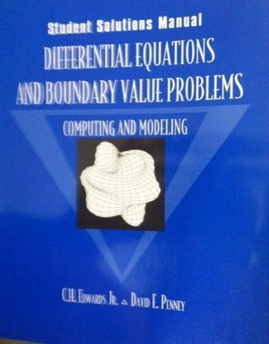 9780135044575: Differential Equations and Boundary Value Problems: Computing and Modeling : Student Solutions Manual
