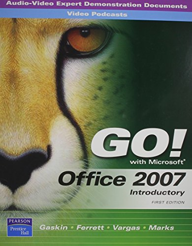9780135045985: AV-EDDs and PodCasts for GO! Office 2007 Introductory