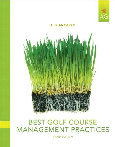 9780135047095: Best Golf Course Management Practices