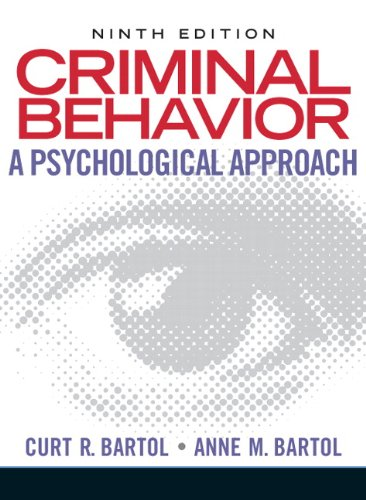 9780135050507: Criminal Behavior: A Psychological Approach (9th Edition)