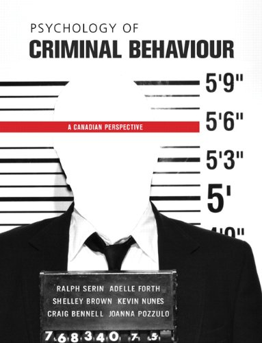 9780135053805: Psychology of Criminal Behaviour: A Canadian Perspective