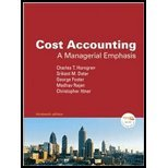 9780135054970: Cost Accounting: A Managerial Emphasis and Myaccountinglab Coursecompass Student Access Code Card Package
