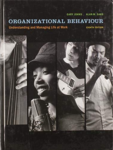 9780135059142: Organizational Behaviour : Understanding and Managing Life at Work