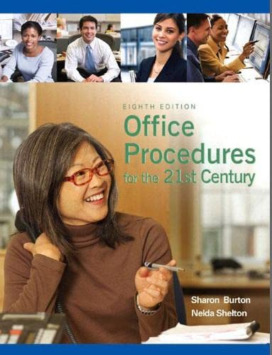 9780135063897: Office Procedures for the 21st Century