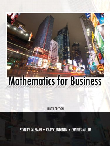 9780135063941: Mathematics for Business (9th Edition)