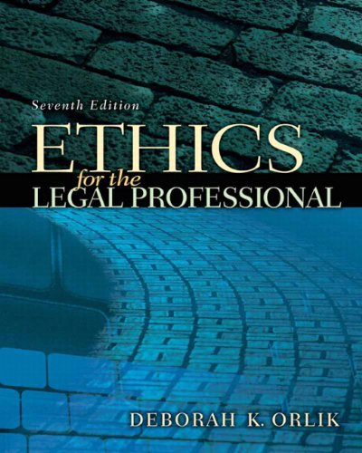 9780135064009: Ethics for the Legal Professional (7th Edition)