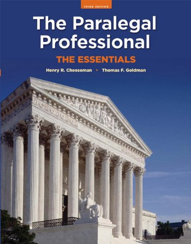 9780135064016: The Paralegal Professional: The Essentials (3rd Edition)