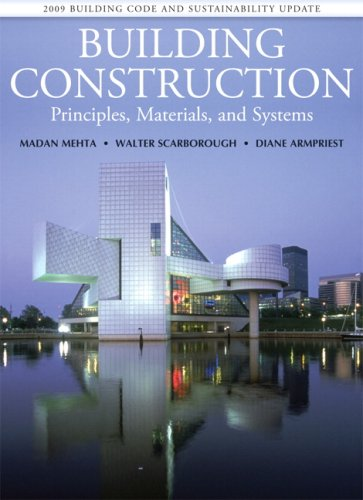 Building Construction: Principles, Materials, and Systems 2009: Madan L Mehta