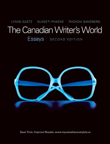 9780135066669: The Canadian Writer's World: Essays (2nd Edition)