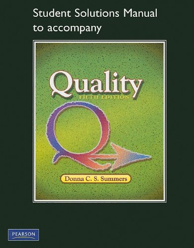 9780135067208: Student Solutions Manual for Quality