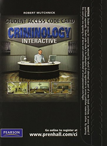 9780135068458: Criminology Interactive -- Access Card