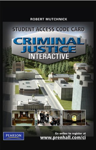 9780135068465: Criminal Justice Interactive -- Access Card