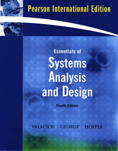 9780135069844: Essentials of System Analysis and Design: International Edition