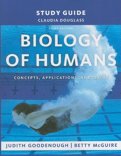 9780135070604: Study Guide for Biology of Humans: Concepts, Applications, and Issues