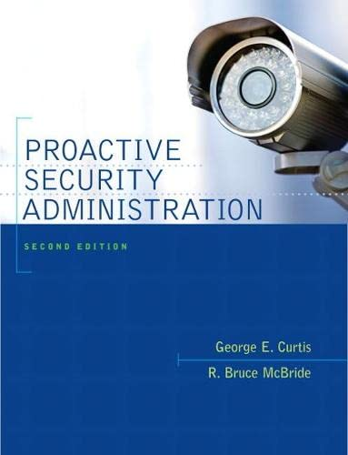 9780135071502: Proactive Security Administration: (2nd Edition)