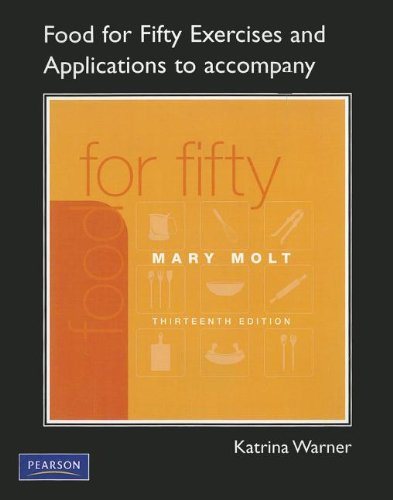9780135072257: Exercises and Applications Workbook for Food For Fifty