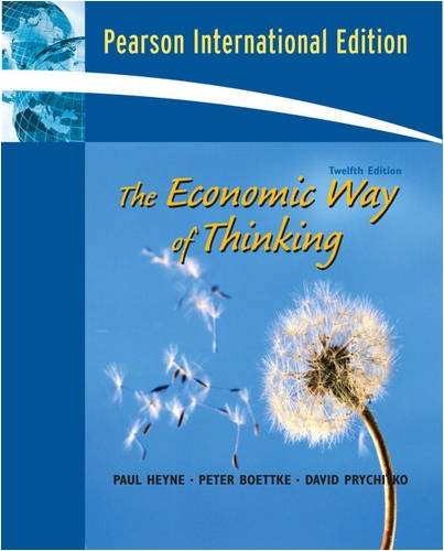 9780135072301: The Economic Way of Thinking: PEARSON INTERNATIONAL VERSION (12TH EDITION)