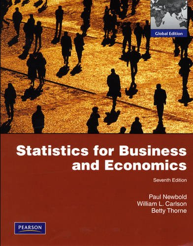Statistics for Business and Economics: Global Edition: Newbold, Paul, Carlson,