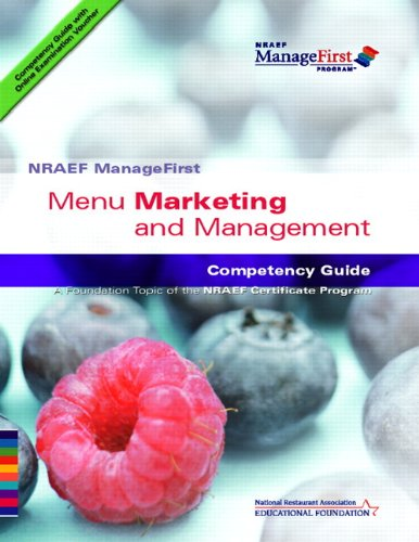9780135072561: ManageFirst Menu Marketing and Management with On-line Testing Access Code Card and Test Prep