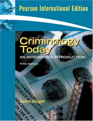 9780135073179: Criminology Today : An Integrative Introduction (pearson international edition)